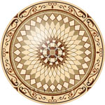 Flooring inlay:  P39 Wood Medallion