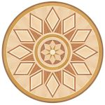 Flooring inlay: P42 Wood Medallion
