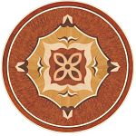 Flooring inlay: P43 Wood Medallion