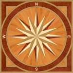 Flooring inlay:  PC3-Square Wood Medallion