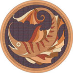 Flooring inlay: PC5 Wood Medallion