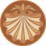 Flooring inlay: PC6 Wood Medallion