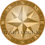 Flooring inlay:  PCOMP01 Wood Medallion