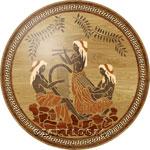 Flooring inlay: PGA1 Wood Medallion