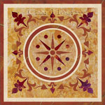 Flooring inlay:  SPMX203 Stone Medallion