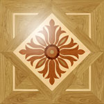 Flooring inlay:  PMX7 Wood Medallion