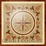 Flooring inlay:  PMX203 Wood Medallion