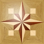 Flooring inlay:  PMX13 Wood Medallion