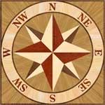 Flooring inlay:  PCOMP02-Square Wood Medallion
