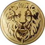 Flooring inlay:  Lion Head Wood Medallion