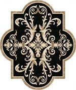 Flooring inlay:  Portofino-Marble Stone Medallion