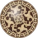 Flooring inlay: R98 Wood Medallion