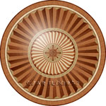 Flooring inlay:  R101 Wood Medallion