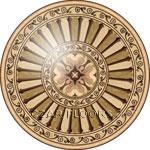 Flooring inlay: R106 Wood Medallion