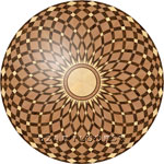 Flooring inlay: R17 Wood Medallion