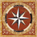 Flooring inlay:  Polaris Stone Medallion