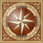 Flooring inlay:  R1B Wood Medallion