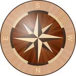 Flooring inlay:  R1C Wood Medallion