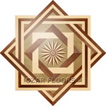 Flooring inlay:  R2 Wood Medallion