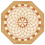 Flooring inlay: R27 Wood Medallion
