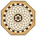 Flooring inlay: R28 Wood Medallion