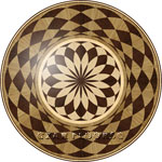 Flooring inlay:  R32 Wood Medallion
