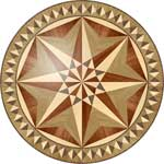 Flooring inlay:  R34 Wood Medallion