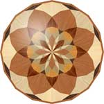 Flooring inlay:  R37 Wood Medallion