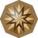 Flooring inlay: R4 Wood Medallion