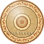 Flooring inlay: R45 Wood Medallion