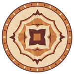 Flooring inlay: R46 Wood Medallion
