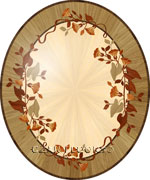 Flooring inlay:  R52 Wood Medallion