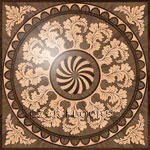 Flooring inlay:  R55 Wood Medallion
