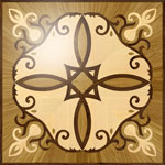 Flooring inlay: R57 Wood Medallion