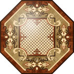 Flooring inlay:  R60 Wood Medallion