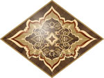 Flooring inlay:  R63 Wood Medallion