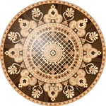 Flooring inlay:  R77 Wood Medallion