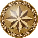 Flooring inlay:  R8 Wood Medallion