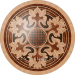 Flooring inlay:  R80 Wood Medallion