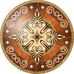 Flooring inlay:  R84 Wood Medallion