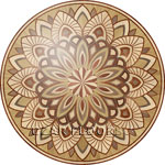 Flooring inlay:  R91 Wood Medallion