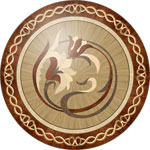 Flooring inlay:  R94 Wood Medallion