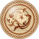 Flooring inlay: R95 Wood Medallion