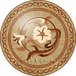 Flooring inlay:  R96 Wood Medallion