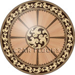 Flooring inlay:  R97 Wood Medallion