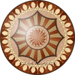 Flooring inlay:  R99 Wood Medallion