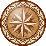 Flooring inlay:  ROZ098 Wood Medallion
