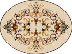 Flooring inlay:  Rafael Oval Stone Medallion