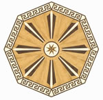 Flooring inlay: R6 Wood Medallion