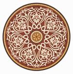 Flooring inlay: R92 Wood Medallion